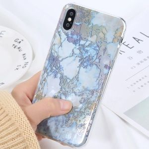 Accessories - NEW iPhone X/XS/7+/8+/7/8 Glossy Marble Soft Case